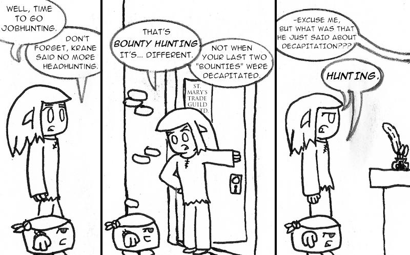 "How many times can I use the word ""Hunting"" in one strip?"